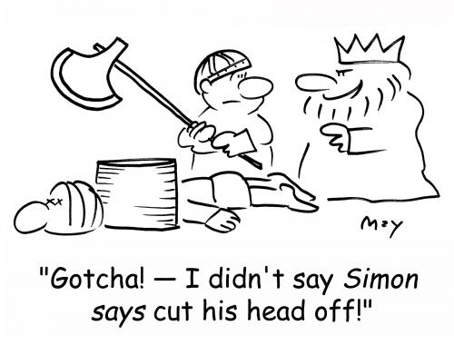 Cartoon: simon says (medium) by rmay tagged simon,says