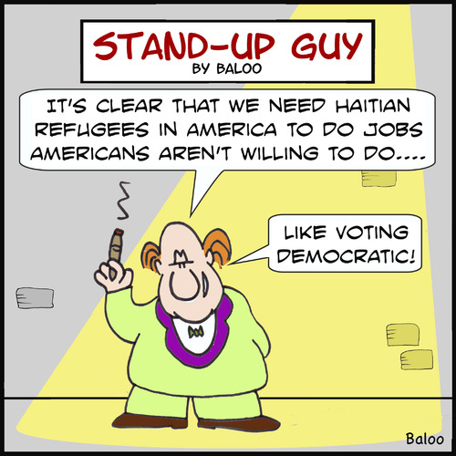 Cartoon: sug like voting democratic haiti (medium) by rmay tagged sug,like,voting,democratic,haiti