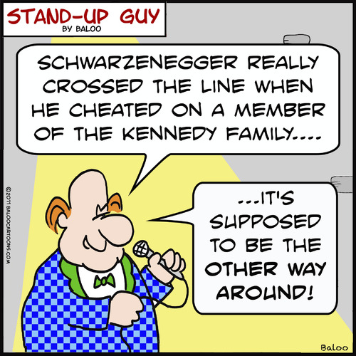 Cartoon: SUGother way around schwarzenegg (medium) by rmay tagged other,way,around,schwarzenegger