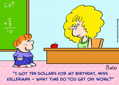 Teacher And Student Cartoon http://www.toonpool.com/cartoons/teacher%20kid%20off%20work_45971