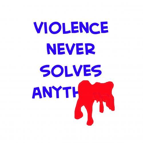 : Насилие никогда не решает ничего (среда) по rmay отмеченных насилием ...