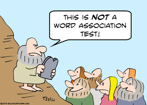 Cartoon: word association moses (medium) by rmay tagged word,association,moses