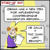 Cartoon: 1aa121SUGnojuanleftbehind (small) by rmay tagged no,juan,left,behind,obama,immigration,reform