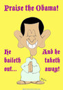 Cartoon: 1taketh away baileth out obama (small) by rmay tagged taketh,away,baileth,out,obama