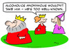 Cartoon: alcoholics anonymous king well k (small) by rmay tagged alcoholics,anonymous,king,well