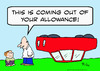 Cartoon: allowance car upside down (small) by rmay tagged allowance,car,upside,down