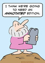 Cartoon: annotated edition commandments (small) by rmay tagged annotated,edition,commandments,moses