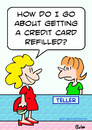 Cartoon: bank credit card refilled (small) by rmay tagged bank,credit,card,refilled