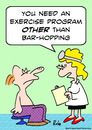 Cartoon: bar hopping exercise doctor (small) by rmay tagged bar,hopping,exercise,doctor