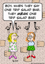Cartoon: bar salad one trip mean chains (small) by rmay tagged bar,salad,one,trip,mean,chains
