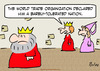 Cartoon: barely tolerated nation king que (small) by rmay tagged barely,tolerated,nation,king,que