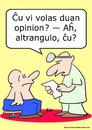 Cartoon: big shot second opinion doctor (small) by rmay tagged big,shot,second,opinion,doctor,esperanto