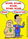 Cartoon: BOMB IRAN PAKISTAN OBAMA MCCAIN (small) by rmay tagged bomb,iran,pakistan,obama,mccain