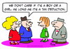 Cartoon: boy girl tax deduction pregnant (small) by rmay tagged boy,girl,tax,deduction,pregnant