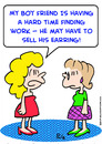 Cartoon: boyfriend work sell earring (small) by rmay tagged boyfriend,work,sell,earring