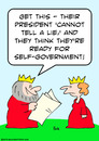 Cartoon: cannot tell lie king (small) by rmay tagged cannot,tell,lie,king