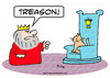 Cartoon: cat king throne treason (small) by rmay tagged cat,king,throne,treason