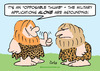 Cartoon: cave opposable thumb military (small) by rmay tagged cave,opposable,thumb,military