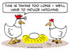 Cartoon: chicken egg induce hatching (small) by rmay tagged chicken,egg,induce,hatching
