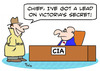 Cartoon: CIA lead Victorias secret (small) by rmay tagged cia,lead,victorias,secret