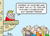 Cartoon: class action suit france king (small) by rmay tagged class,action,suit,france,king