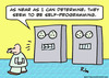 Cartoon: computer self programming (small) by rmay tagged computer,self,programming