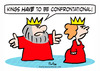 Cartoon: confrontational king queen (small) by rmay tagged confrontational,king,queen