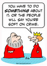 Cartoon: crown king queen soft crime (small) by rmay tagged crown,king,queen,soft,crime