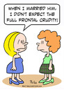 Cartoon: crudity full frontal married (small) by rmay tagged crudity,full,frontal,married
