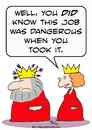 Cartoon: dangerous job king crown arrows (small) by rmay tagged dangerous,job,king,crown,arrows