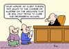 Cartoon: deceased hiccups judge (small) by rmay tagged deceased,hiccups,judge
