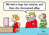 Cartoon: discovered ebay king queen budge (small) by rmay tagged discovered,ebay,king,queen,budge