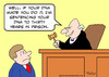 Cartoon: dna judge years sentence prison (small) by rmay tagged dna,judge,years,sentence,prison
