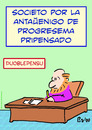 Cartoon: doublethink liberal thought espe (small) by rmay tagged doublethink,liberal,thought,esperanto