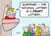 Cartoon: draft lottery national king (small) by rmay tagged draft,lottery,national,king