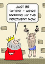 Cartoon: drawing indictment prisoner king (small) by rmay tagged drawing,indictment,prisoner,king
