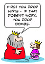 Cartoon: drop hints bombs king prince (small) by rmay tagged drop,hints,bombs,king,prince