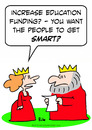 Cartoon: education king queen funding (small) by rmay tagged education,king,queen,funding