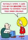 Cartoon: express inner feelings (small) by rmay tagged express,inner,feelings