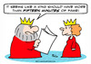 Cartoon: fame king fifteen minutes (small) by rmay tagged fame,king,fifteen,minutes