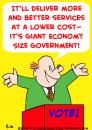 Cartoon: GIANT ECONOMY SIZE GOVERNMENT (small) by rmay tagged giant,economy,size,government