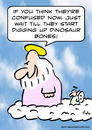 Cartoon: god angel dinosaur bones (small) by rmay tagged god,angel,dinosaur,bones