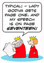 Cartoon: godiva lady king queen speech (small) by rmay tagged godiva,lady,king,queen,speech