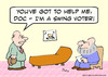 Cartoon: help doc swing voter (small) by rmay tagged help doc swing voter