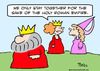 Cartoon: holy roman empire king together (small) by rmay tagged holy,roman,empire,king,together