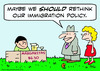 Cartoon: immigration policy rethink marga (small) by rmay tagged immigration,policy,rethink,marga
