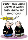 Cartoon: judge hate show no emotion (small) by rmay tagged judge,hate,show,no,emotion