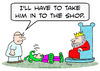 Cartoon: king jester take in to shop doc (small) by rmay tagged king,jester,take,in,to,shop,doc