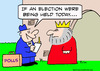 Cartoon: king polls election held today (small) by rmay tagged king,polls,election,held,today