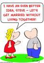 Cartoon: living together married (small) by rmay tagged living,together,married